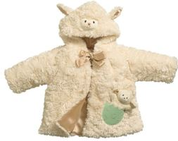 Cream Baby Lamb Coat Babies Jacket Gift 3-9 Months