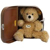 Steiff Fynn Bear in a Suitcase Childrens Toy Teddy