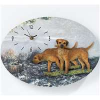 3D Effect Border Terrier Dogs Wall Clock