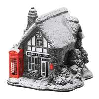 Lilliput Lane Red Splash Post Office and Telephone Box Miniature