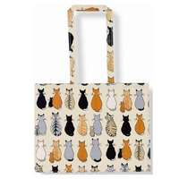 Cats in Waiting Wipe Clean PVC Shoulder Bag Christmas Gift