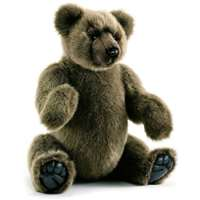 Hansa Silvery Brown Jointed Teddy Bear Childrens Soft Toy 4477