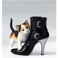 Kitten Heels Molly Kitten+High Heel Ankle Boot Girly Ornament Gift