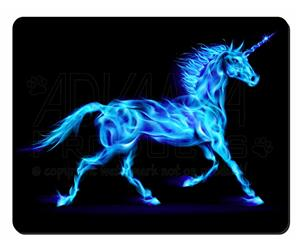 Blue Fire Unicorn Print, UC-2