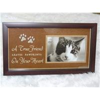 Pet Memorial Cat Shadow Box Keepsake Memory Photo Frame