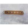 "Small Metallic Old Gold Jewelled Cat or Puppy Dog Collar, Fits Neck: 7.5""-8.5"""
