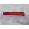 "Small Red Leather Jewelled Cat or Dog Collar, Fits Neck Size: 7.5""-8.5"""