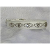 "Small White Leather Jewelled Cat or Puppy Dog Pet Collar, Fits Neck: 7.5""-8.5"""