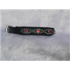 Small Black Cat or Puppy Dog Collar With Jewels, Fits Neck: 9-10.5""