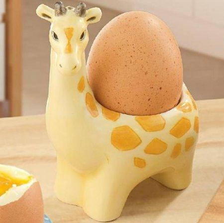 Giraffe Egg Cup Childrens Adults Novelty Breakfast