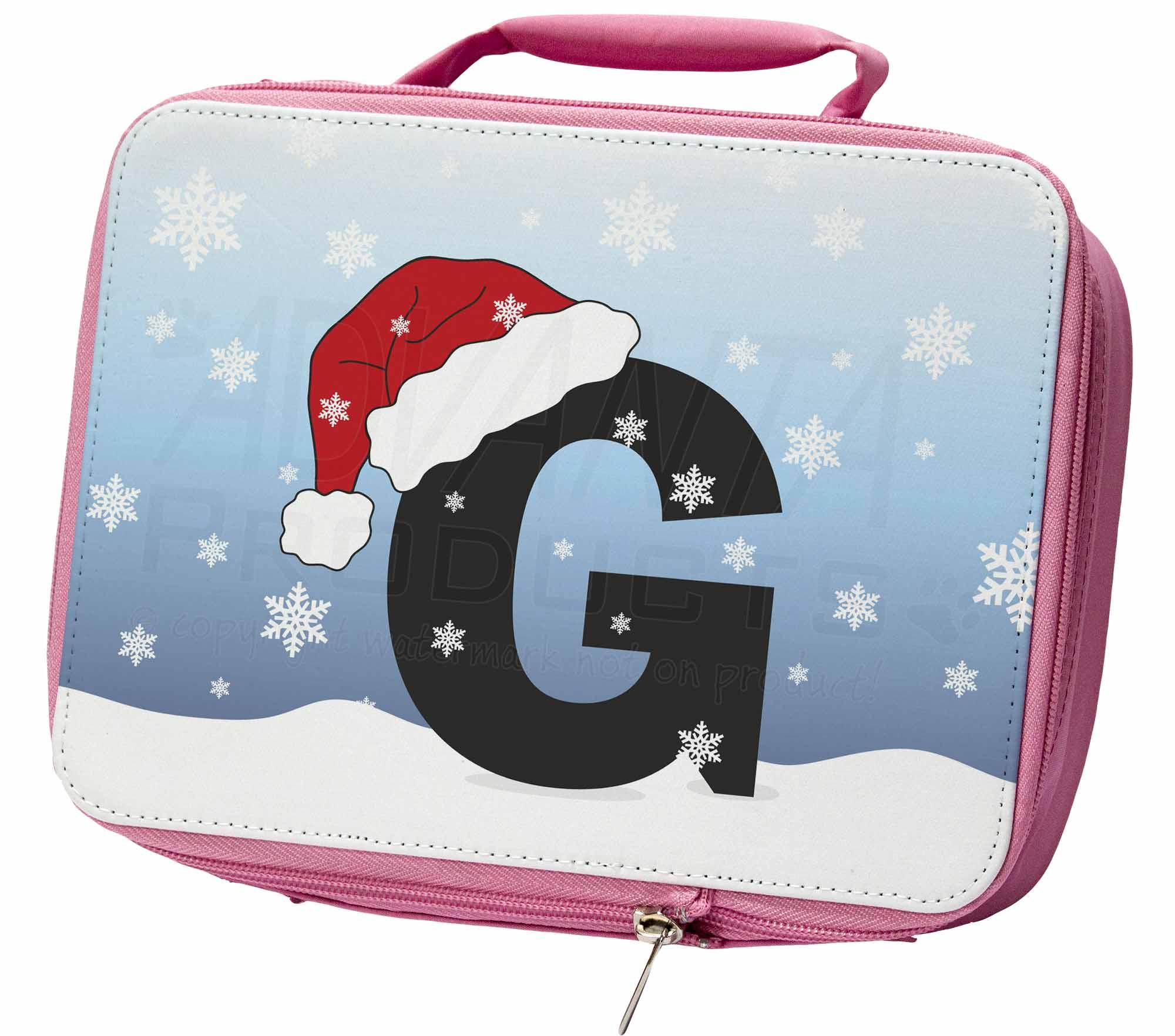 """Lettera """"g"""" Indossare Un Cappello Da Babbo Natale Rosa Isolata Scuola Pranzo Box Sacchetto, A-7lbp-mostra Il Titolo Originale"""