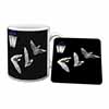 Bats by Lantern Night Light Mug+Coaster Christmas/Birthday Gift Idea