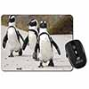Penguins on Sandy Beach Computer Mouse Mat Christmas Gift Idea