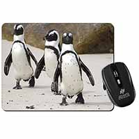 Penguins on Sandy Beach Computer Mouse Mat Birthday Gift Idea