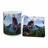 Red Kite Bird of Prey Mug+Coaster Christmas/Birthday Gift Idea
