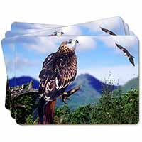 Red Kite Bird of Prey Picture Placemats in Gift Box