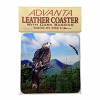 Red Kite Bird of Prey Single Leather Photo Coaster Perfect Gift