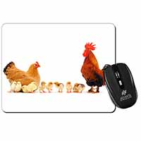 Hen, Chicks and Cockerel Computer Mouse Mat Birthday Gift Idea