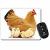 Hen with Baby Chicks Computer Mouse Mat Christmas Gift Idea