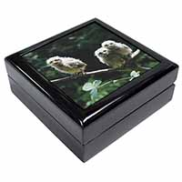 Baby Owls on Branch Keepsake/Jewellery Box Christmas Gift