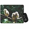Baby Owls on Branch Computer Mouse Mat Christmas Gift Idea