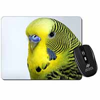 Yellow Budgerigar, Budgie Computer Mouse Mat Birthday Gift Idea