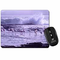 Pink Flamingo on Sea Shore Computer Mouse Mat Christmas Gift Idea