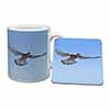 Flying Kestrel Bird of Prey Mug+Coaster Christmas/Birthday Gift Idea