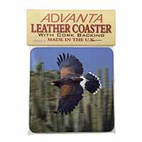 Flying Harris Hawk Bird of Prey Single Leather Photo Coaster Perfect Gift