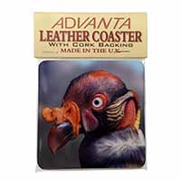 King Vulture Bird of Prey Single Leather Photo Coaster Animal Breed Gift