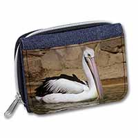 Pelican Print Girls/Ladies Denim Purse Wallet Christmas Gift Idea