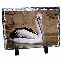 Pelican Print Photo Slate Christmas Gift Ornament