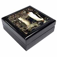 Penguins on Pebbles Keepsake/Jewellery Box Christmas Gift
