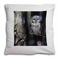 Stunning Owl in Tree Soft Velvet Feel Cushion Cover With Inner Pillow