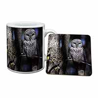 Stunning Owl in Tree Mug+Coaster Christmas/Birthday Gift Idea