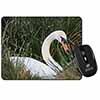 Swan in Grass Land Computer Mouse Mat Christmas Gift Idea