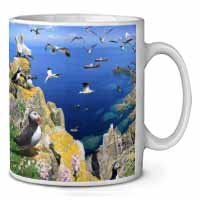 Puffins and Sea Bird Montage Coffee/Tea Mug Christmas Stocking Filler Gift Idea