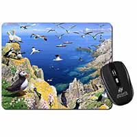 Puffins and Sea Bird Montage Computer Mouse Mat Christmas Gift Idea