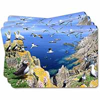Puffins and Sea Bird Montage Picture Placemats in Gift Box