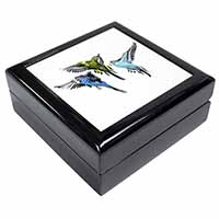 Budgerigars, Budgies in Flight Keepsake/Jewel Box Birthday Gift Idea