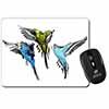 Budgerigars, Budgies in Flight Computer Mouse Mat Christmas Gift Idea