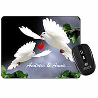 Doves Personalised Valentines Day Gift Computer Mouse Mat Birthday Gift Idea