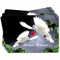 Doves Personalised Valentines Day Gift Picture Placemats in Gift Box