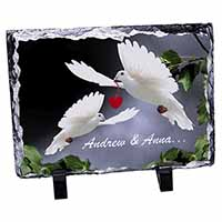 Doves Personalised Valentines Day Gift Photo Slate Christmas Gift Idea
