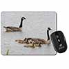 Geese+Goslings in Heavy Rain Computer Mouse Mat Christmas Gift Idea