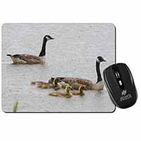 Geese+Goslings in Heavy Rain Computer Mouse Mat Birthday Gift Idea