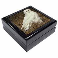 White Barn Owl Keepsake/Jewel Box Birthday Gift Idea