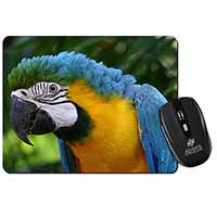Blue+Gold Macaw Parrot Computer Mouse Mat Birthday Gift Idea