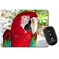 Green Winged Red Macaw Parrot Computer Mouse Mat Birthday Gift Idea