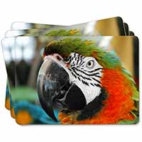 Face of a Macaw Parrot Picture Placemats in Gift Box